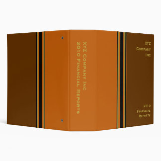 brown orange business 3 ring binder