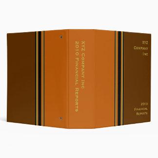 brown orange business 3 ring binders