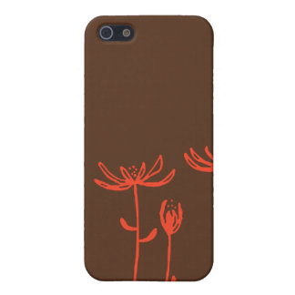 brown orange flowers case for iPhone 5