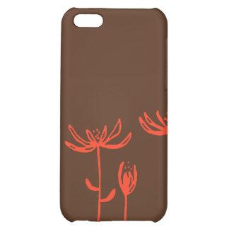brown orange flowers iPhone 5C covers