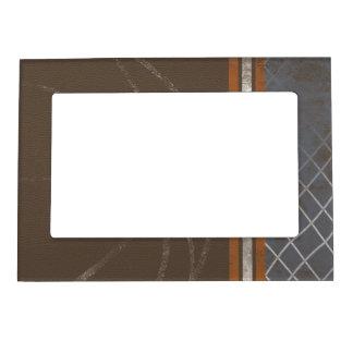 Brown Orange Grey Silver Net 5x7 Magnetic Frame
