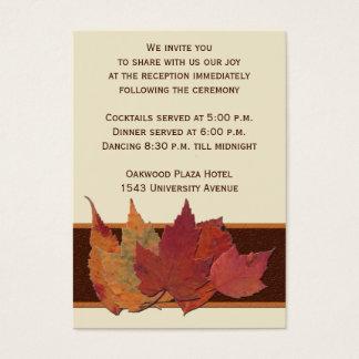 Brown Orange Ivory Dried Leaves Enclosure Card