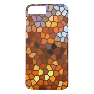 Brown Orange Mosaic Abstract iPhone 7 Plus Case