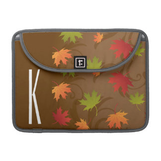 Brown, Orange, Red, & Green Autumn, Fall Leaves Sleeve For MacBook Pro