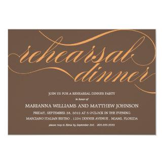 BROWN & ORANGE REHEARSAL | PARTY INVITATION