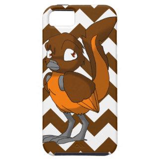 Brown/Orange Reptilian Bird w/ Chevron Back 1 iPhone 5/5S Covers