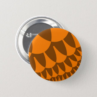 Brown Orange Scales Button