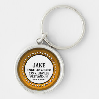 Brown Orange Stud  - Jake Keychain