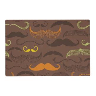 Brown, Orange & Yellow Mustache Design Placemat