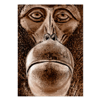 Brown Orangutan Face Close up (wc) Large Business Cards (Pack Of 100)