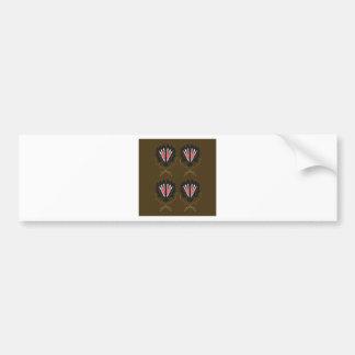 Brown ornaments. Original design Bumper Sticker