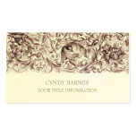 Brown Ornate Baroque Business Card