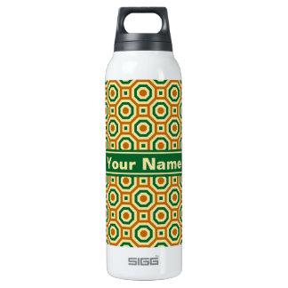Brown/oro/botella terma jerarquizada verde de los