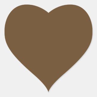 Brown oscuro pegatina en forma de corazón