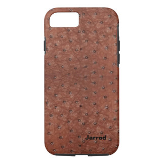 Brown Ostrich Leather Look iPhone 7 Case