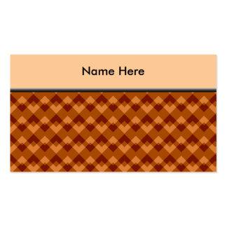 Brown otoñal colorea el modelo geométrico tarjetas de visita