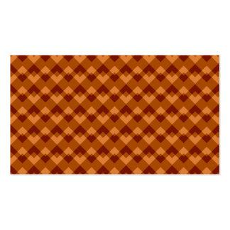 Brown otoñal colorea el modelo geométrico tarjetas de negocios
