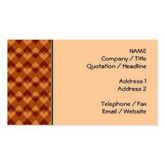 Brown otoñal colorea el modelo geométrico tarjeta de negocio
