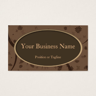 Brown Oval Business Card