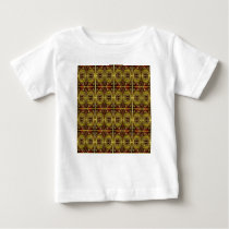 brown, oval pattern baby T-Shirt