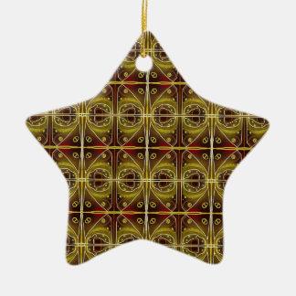 brown, oval pattern ceramic ornament