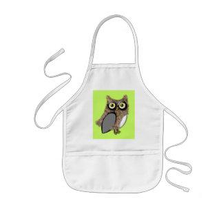 Brown owl kids' apron