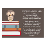 Brown Owl Baby Shower Book Insert Request Card Business Card