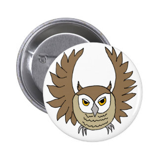 brown owl pinback buttons