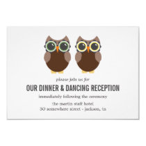 Brown Owl Design Wedding Reception Cards