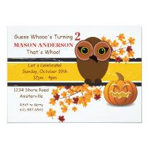 Brown Owl Invitation