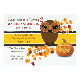 Brown Owl Invitation