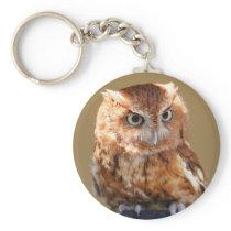 Brown Owl Keychain