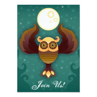 Brown Owl Moon Invitation