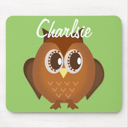 Brown Owl Personalized Mousepad