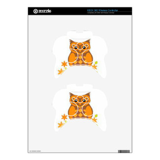 brown owl sitting in a branch xbox 360 controller skin