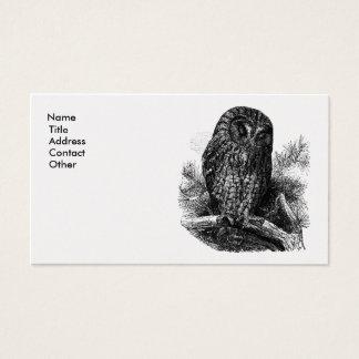 Brown Owl Sleeping Business Card