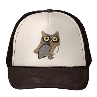 Brown owl trucker hat