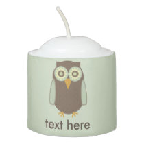Brown Owl Votive Candle
