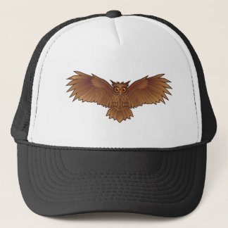 Brown Owl with Outstretched Wings Trucker Hat