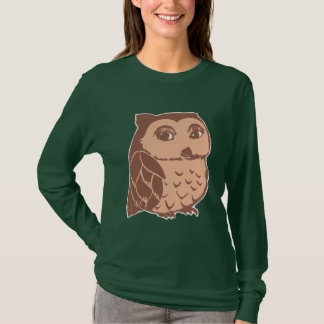 Brown Owl Women's Long Sleeve T-Shirt, Deep Forest T-Shirt