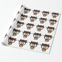 Brown Owl Wrapping Paper
