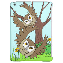 brown owls flying past tree iPad Air Savvy case Cover For iPad Air