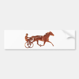 Brown Pacer Silhouette Bumper Sticker