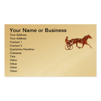 Brown Pacer Silhouette Double-Sided Standard Business Cards (Pack Of 100)