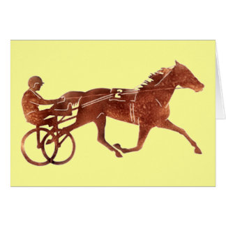 Brown Pacer Silhouette Greeting Card