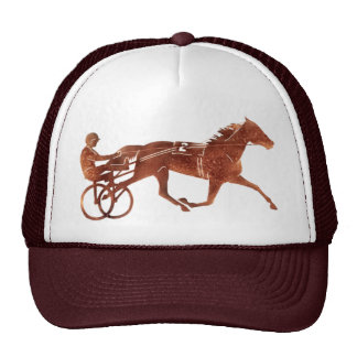 Brown Pacer Silhouette Trucker Hats