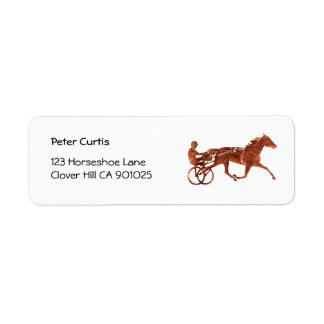 Brown Pacer Silhouette Return Address Label