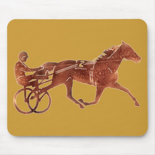 Brown Pacer Silhouette Mouse Pad