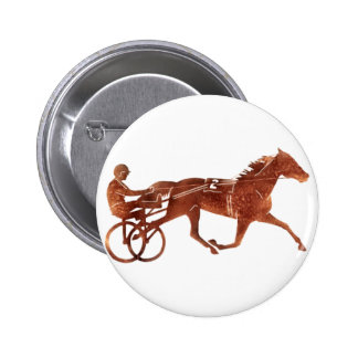 Brown Pacer Silhouette Pinback Button