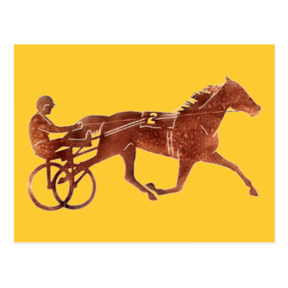 Brown Pacer Silhouette Postcard